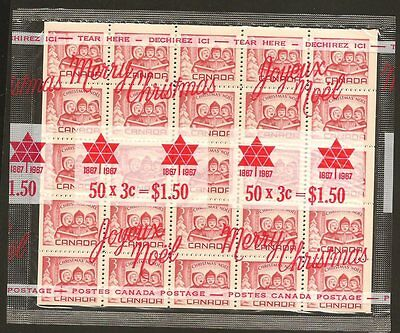 Canada #476  1967 3c Carmine Red Christmas IN CELLO-PACK  REGULAR