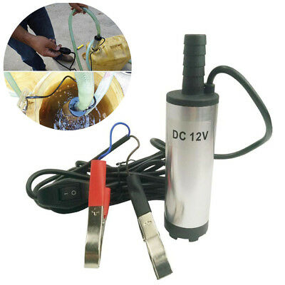 38mm Silver 12V Portable DC Car Electric Submersible Water Oil Diesel Fuel Pump