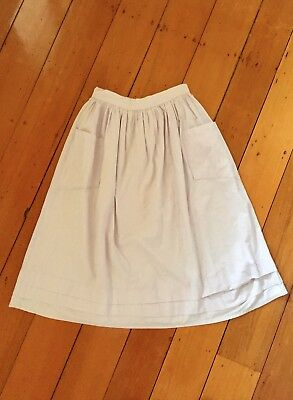 Amazing Vintage London Lilac 1950's Cotton Full Skirt with Pockets S