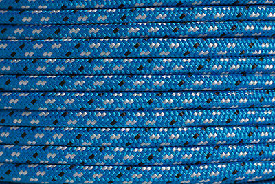 Polyester Double Braided Rope 6mm x 100m, Blue/White Fleck