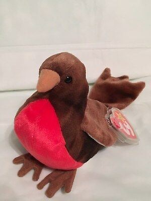 TY Beanie Baby - EARLY the Robin - Mint with Mint Tags - RETIRED