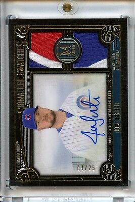 2016 Topps Museum Collection Jon Lester /25 Nice Patch Chicago Cubs RARE