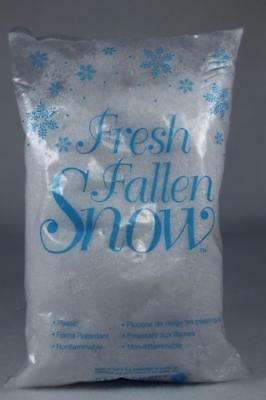 Dept 56 Village Accessory 'Fresh Fallen Snow' Small Bag Great For Crafts NEW