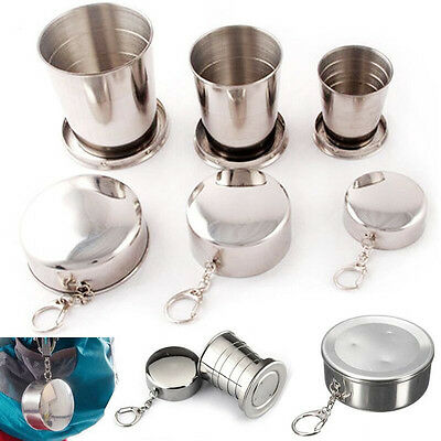75ML Stainless Steel Portable Folding Telescopic Collapsible Outdoor Cup 1PC