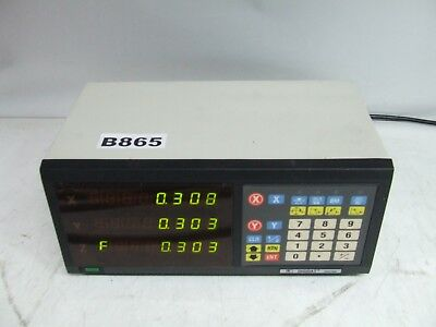 Knuth KNT7000 2 Axis Digital Readout System with 1 Linear scale *Working*