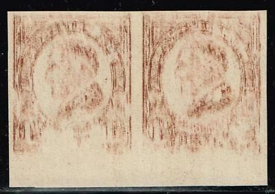 USA STAMP #631 – 1926-28 1-1/2c W.G. Harding, UNUSED NG Imperf INK ERROR PAIR