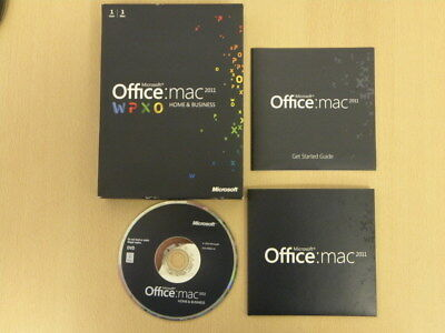 Microsoft Office MAC 2011 - Office for Apple Mac - Home & Business AUCTION