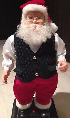 collectible santa hip swing song santas is coming to town  tall 16 in Vintage