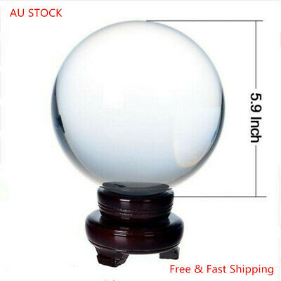 150mm Rare Clear crystal ball Sphere crystal glass balls for home decoration