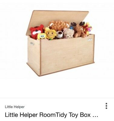 Little Helper RoomTidy Toy Box/Storage Chest with Slow Release Lid Maple