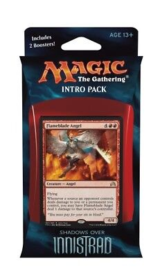 60-Card Angelic Fury Shadows over Innistrad intro Pack Deck | 2 booster MTG