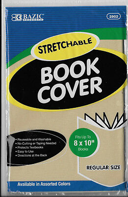 """New Bazic Stretchable 8""""x10"""" Tan Book Cover"""