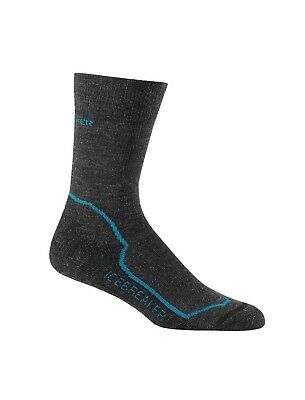 Icebreaker Women's Hike+ Light Cushion Crew Merino Wool Socks - Jet Heather/Crui