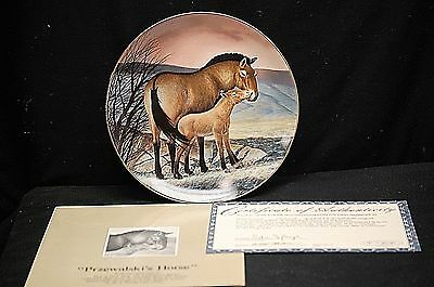 The Przewalski's Horse Collector Plate 1991 The Endangered Species by W.S George
