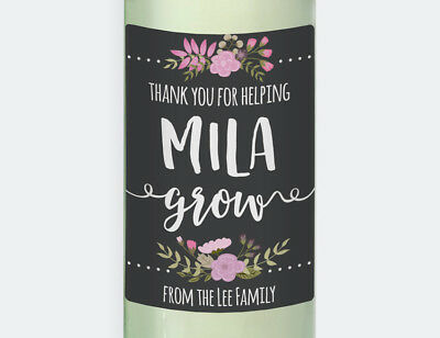 Personalised Grow Teachers 4 x Wine Labels - Gift for Teachers