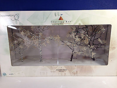 Dept 56 WINTER TREES Set of 4 w/box Seasons Bay Village Combine Shipping!
