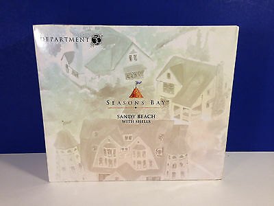 Dept 56 SANDY BEACH WITH SHELLS w/box Seasons Bay Village NEW Combine Shipping!
