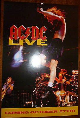"AC DC - Live ~ PROMO POSTER ~ ""Coming October 27th"" ~ 36 x 24"