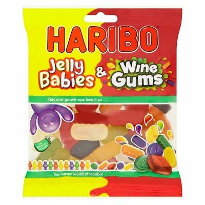 Haribo Jelly Babies & Wine Gums (140g) - British Sweets/Candy