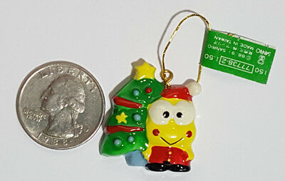 Vintage Sanrio 1991 Keroppi Ceramic Christmas Onament (Keroppi & X'mas Tree) Lot