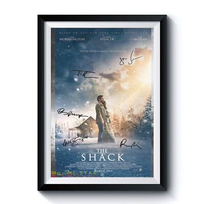 THE SHACK Casts Autograph Poster Reprint Movie Home Wall Room Art Deco Present