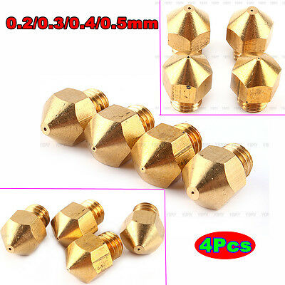 4pcs 0.2-0.5mm Extruder Nozzle Print Head For Makerbot MK8 RepRap 3D Printer AF