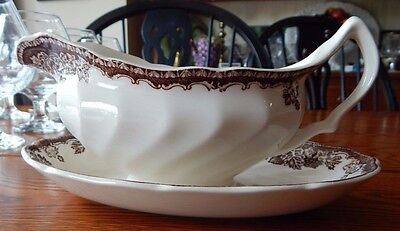 Williams-Sonoma Wedgwood Plymouth Transferware Gravy Boat with Underplate
