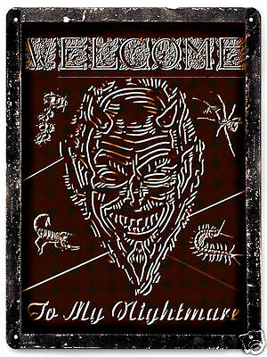 HALLOWEEN METAL Sign horror funny gift mancave Wall decor / vintage style 059