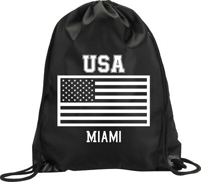 Backpack Bag Miami Usa United States Gym Handbag Flag Sport M1