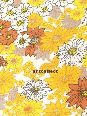 Vintage Sheet Fabric: Floral. All Cotton.