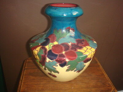 "PLANT TUSCAN FAIENCE VASE. ""Made for Lawleys"""