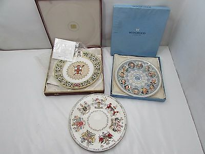 3 Collectable Plates Limited Edition Spode Wedgewood & Royal Doulton
