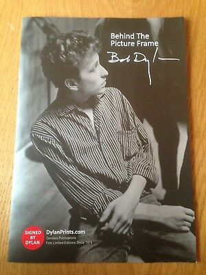 Bob Dylan Behind The Picture Frame Booklet Genesis Productions Unused 1960s