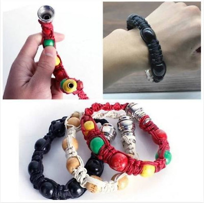 Creative Portable Metal Bracelet Smoke Smoking Tobacco Pipe Jamaica Rasta HOT