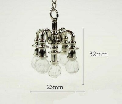1:12 dollhouse miniature dollhouse accessories mini chandelier 1pcs toy silver