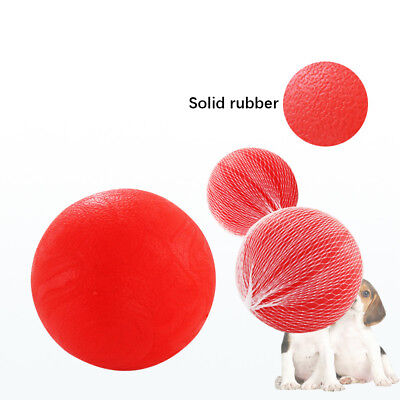 Solid Throwing F etch Bite Chew Rubber Ball for Pet Dog Cat Puppy Toy Game S/M/L