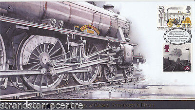 2008 George Stephenson's 160th Death Anniv - Buckingham 'Railway' Series Cover