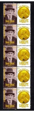 Rene Cassin Nobel Peace Prize Strip Of 10 Stamps 3