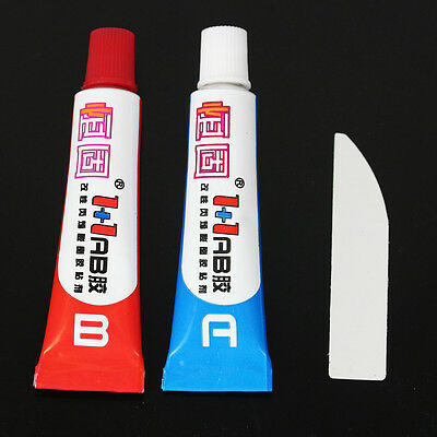 2Pcs/Set A +B Glue Sticky Adhesive Epoxy Immediate Glue Component Resin Tool  #H