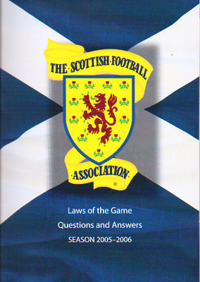 Scottish Football Association - Laws Of The Game Season 2005/6
