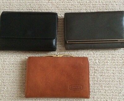 3x OROTON Leather Women's Wallets Purses