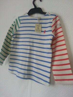 Baby Joules Harbour Stripe Top Age 2-3 New