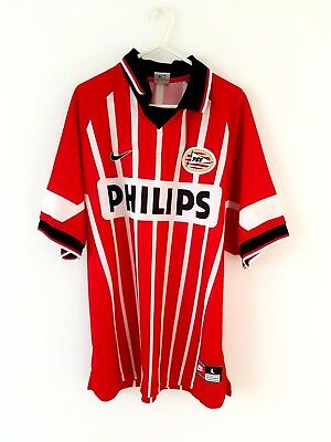 PSV Eindhoven Home Shirt 1997. Large. Adidas. Red Adults Football Top Only L.