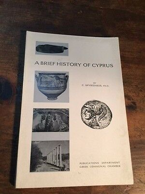 "Vintage & Rare 1964 Greek Book ""a Brief History Of Cyprus"""