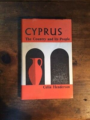 "Vintage & Rare 1968 Greek Book ""cyprus The Country And Its People"""