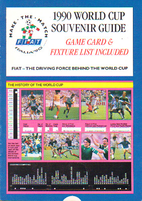 1990 World Cup Souvenir Guide - Issued By Fiat