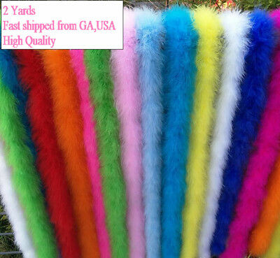 Marabou Fluffy Boa  Feather Trim 6 feet  2 Yards Long 25g Fast shiiped from USA