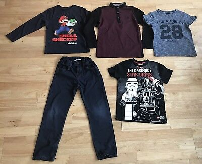 Bundle boys clothes age 6-7 years trousers tops next m&s