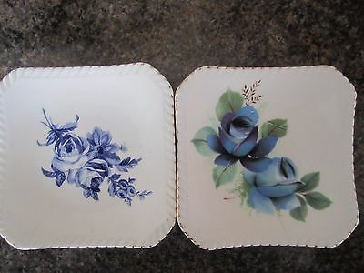 "Pair Of Royal Adderley Floral Bone China "" Floral "" Pin Dishes."