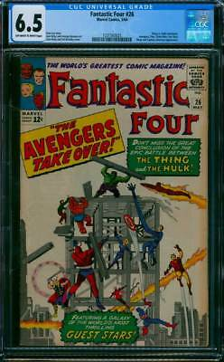 Fantastic Four # 26  The Avengers Take Over !   CGC 6.5 scarce book !